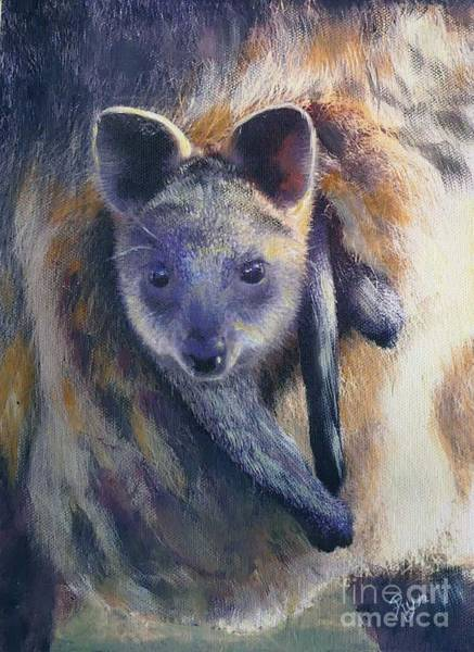 Painting - Wallaby Joey by Ryn Shell