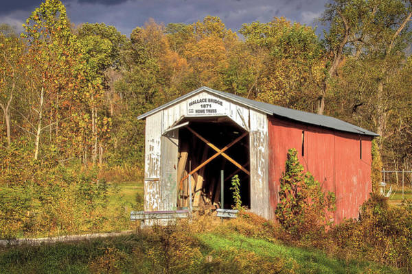 Photograph - Wallace Covered Bridge by Jack R Perry