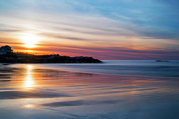 Photograph - Wallis Sands Beach At Sunrine Rye Nh by Toby McGuire