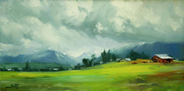 Wall Art - Painting - Wallowa Valley Storm by Steve Henderson