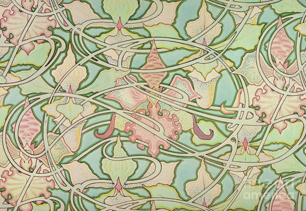 Mucha Painting - Wallpaper Design by Alphonse Marie Mucha