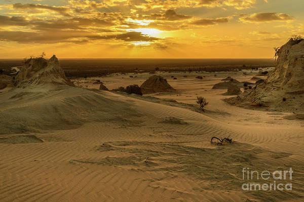 Photograph - Walls Of China Sunset 03 by Werner Padarin