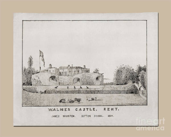 Drawing - Walmer Castle Kent by Donna L Munro