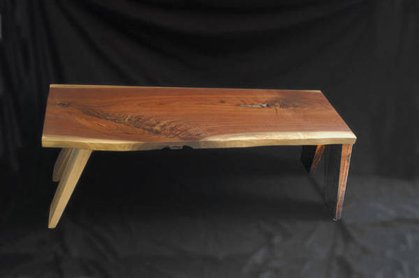 Walnut Mixed Media - Walnut Bench Or Coffee Table by William Lowrey