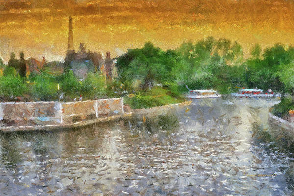 Wall Art - Photograph - Walt Disney World Epcot Boat Ride At Sunset Pa 02 by Thomas Woolworth