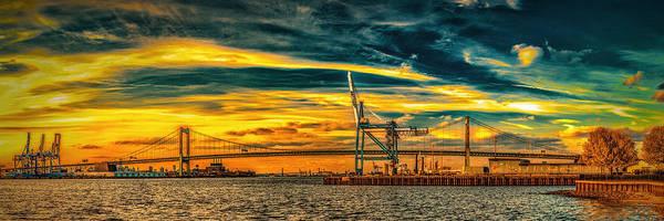 Photograph - Walt Whitman Bridge Sunset by Nick Zelinsky