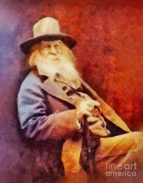 Poetry Painting - Walt Whitman, Literary Legend by Sarah Kirk