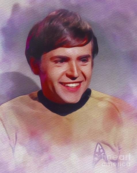 Wall Art - Painting - Walter Koenig As Ensign Pavel Chekov by John Springfield