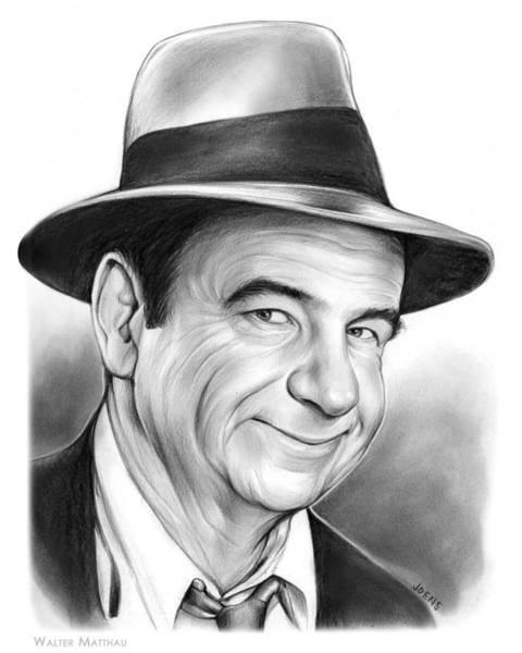 Movie Drawing - Walter Matthau by Greg Joens