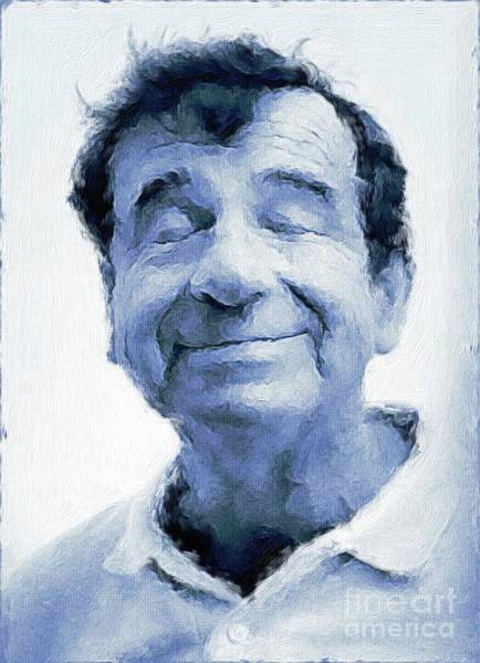 Wall Art - Painting - Walter Matthau, Vintage Actor By Mary Bassett by Mary Bassett