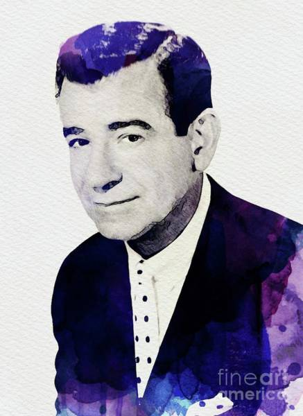 Wall Art - Painting - Walter Matthau, Vintage Actor by John Springfield