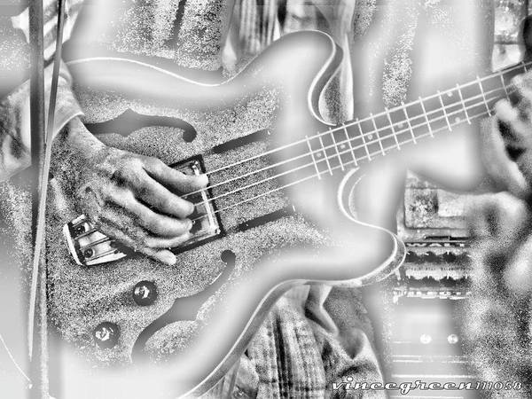 Digital Art - Walter Parks Plays - Study #1 by Vincent Green