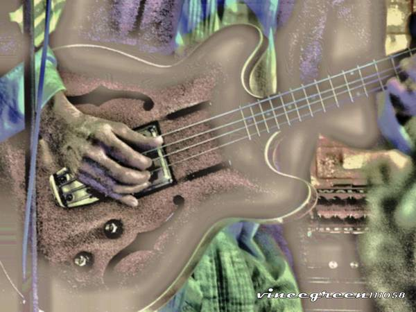 Digital Art - Walter Parks Plays - Study #2 by Vincent Green