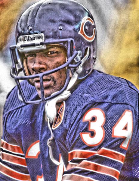 Walter Photograph - Walter Payton Chicago Bears Art by Joe Hamilton