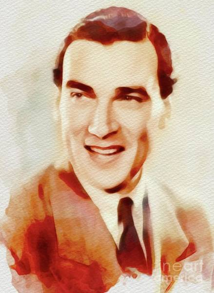 Wall Art - Painting - Walter Pidgeon, Vintage Movie Star by John Springfield