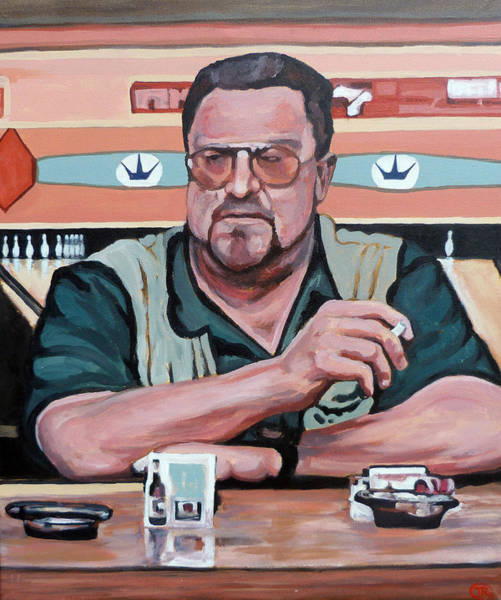 The Big Lebowski Painting - Walter Sobchak by Tom Roderick