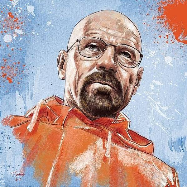 Pencil Wall Art - Photograph - Walter White by Tony Santiago