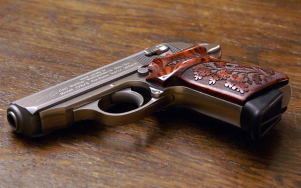 Handguns Photograph - Walther Ppk by Mariel Mcmeeking