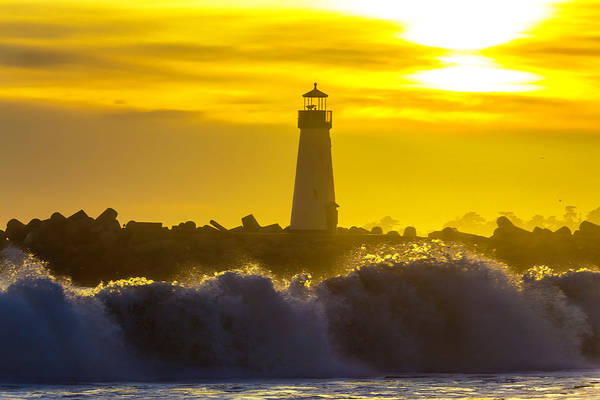 Wall Art - Photograph - Walton Lighthouse At Sunset by Garry Gay