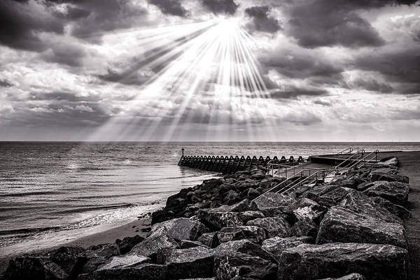 Beam Of Light Photograph - Walton-on-the-naze by Martin Newman