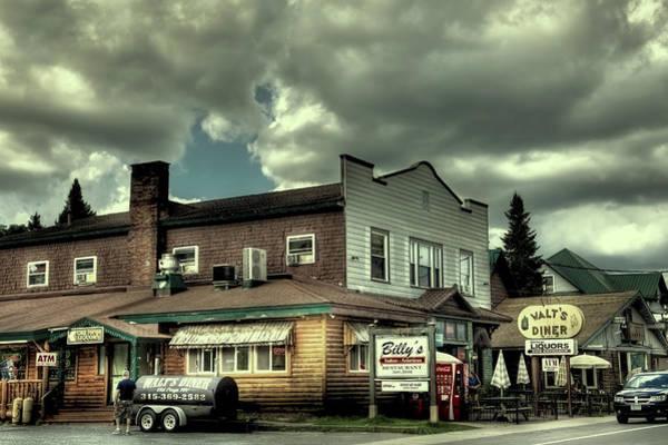 Photograph - Walt's Diner - Vintage Postcard by David Patterson