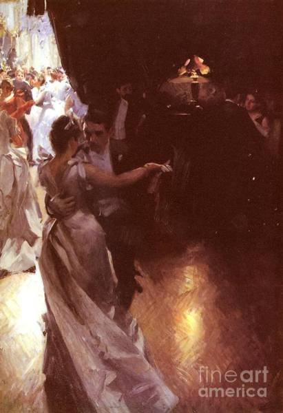 Wall Art - Painting - Waltz by Anders Zorn