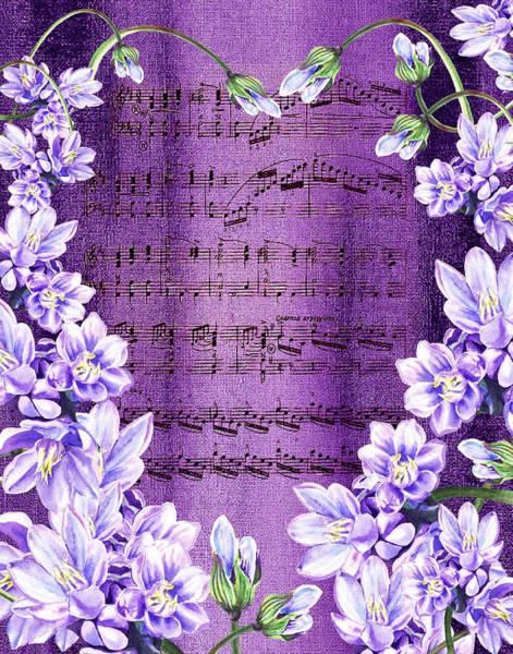 Wall Art - Painting - Waltz Of The Flowers In Purple by Irina Sztukowski
