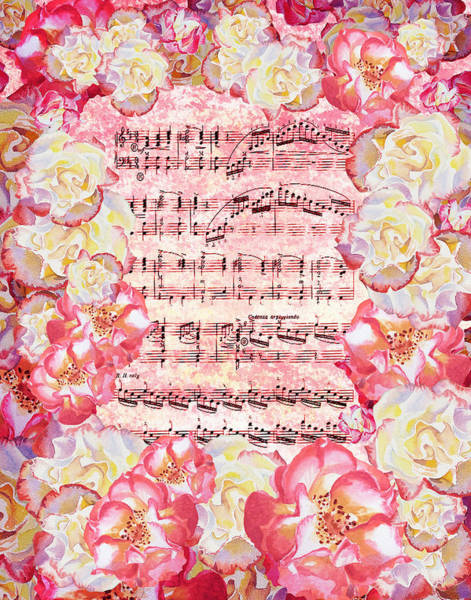 Wall Art - Painting - Waltz Of The Flowers Sweet Roses by Irina Sztukowski
