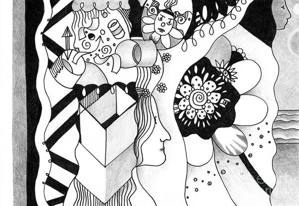 Drawing - Wandering And Wondering by Helena Tiainen