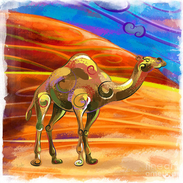 Wall Art - Painting - Wandering Camel by Peter Awax