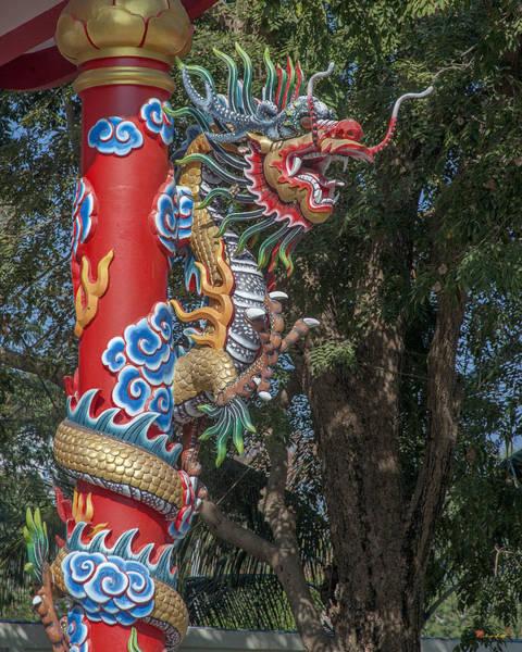 Photograph - Wang Sam Sien Lao Tzu Shrine Dragon Pillar Dthcb0034 by Gerry Gantt