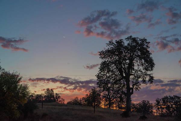Photograph - Waning Crescent At Sunset by Jonathan Hansen