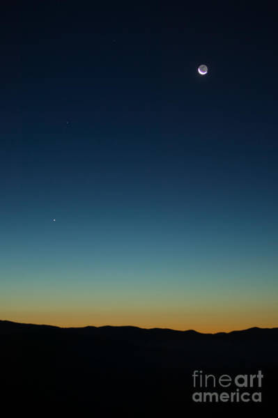 Photograph - Waning Moon And Mercury Rising by Clarence Holmes