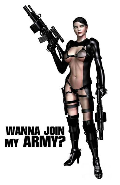 Wanna Join My Army? Art Print
