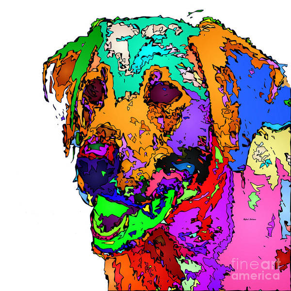 Digital Art - Want To Go For A Walk. Pet Series by Rafael Salazar