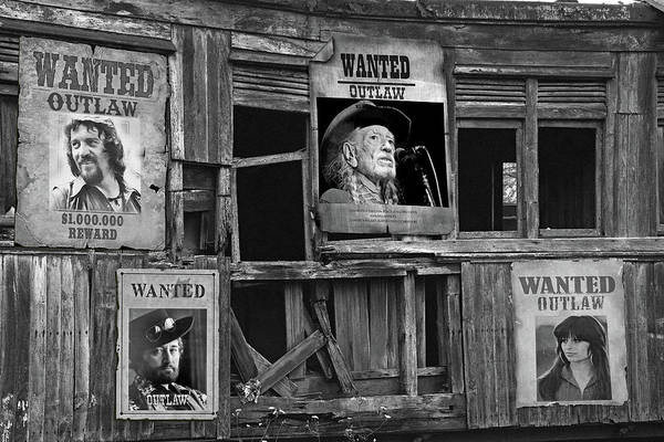 Wall Art - Photograph - Wanted The Outlaws by Mal Bray