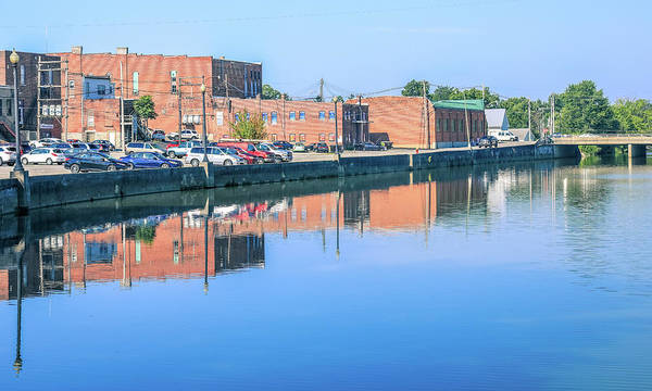 Photograph - Wapakoneta Reflection In Auglaize River by Dan Sproul