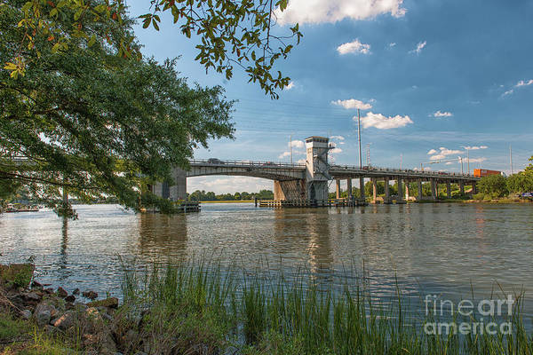 Photograph - Wappoo Creek Bridge In Charleston Sc by Dale Powell