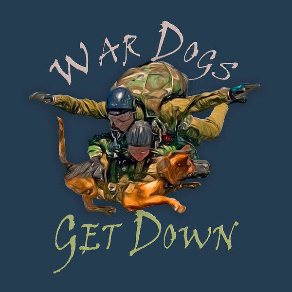 Skydive Painting - War Dogs Get Down Nbr 1 by Will Barger