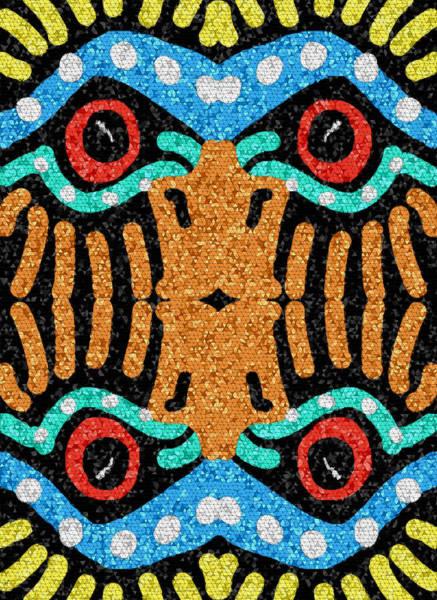 Digital Art - War Eagle Totem Mosaic by Shelli Fitzpatrick