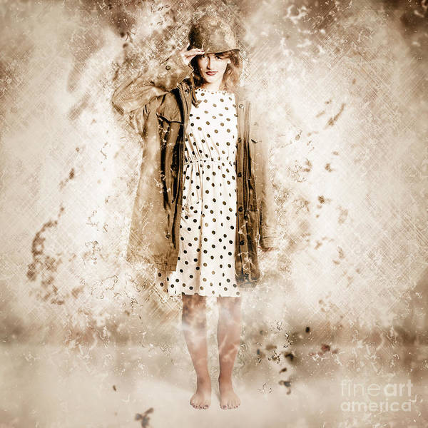 Wall Art - Photograph - War Effort Pin-up Poster Girl by Jorgo Photography - Wall Art Gallery