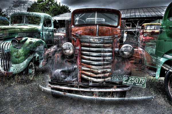 Wall Art - Photograph - War-era G M C Truck by Daniel Hagerman