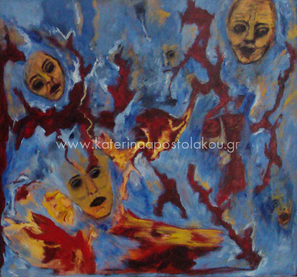 Painting - War Has Always Colateral Damage by Katerina Apostolakou