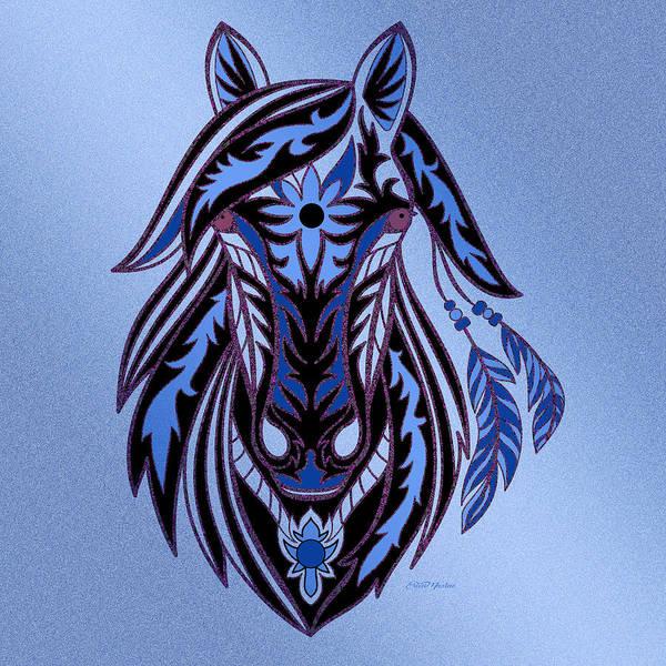 Digital Art - War Horse 3 by Ericamaxine Price