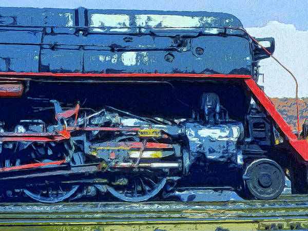 Vintage Railroad Painting - War Horse by Dominic Piperata