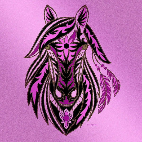 Horse Feathers Digital Art - War Horse by Ericamaxine Price