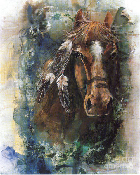 Painting - War Horse by Sherry Shipley