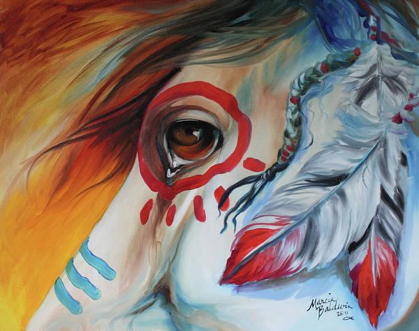 Painting - War Horse Spirit Eye by Marcia Baldwin