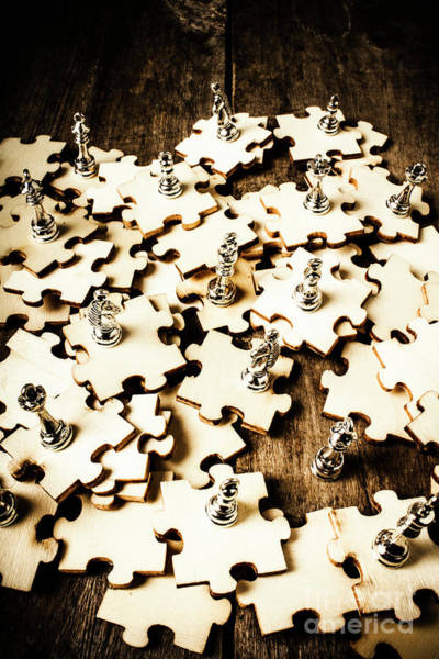 Leadership Wall Art - Photograph - War In A Puzzle Plan by Jorgo Photography - Wall Art Gallery