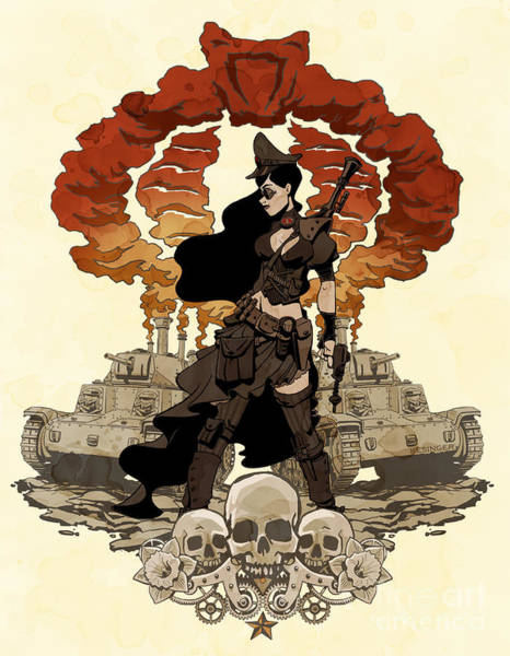 Wall Art - Photograph - War Maiden by Brian Kesinger